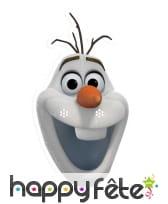 Masque de Olaf en carton plat