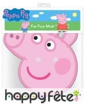 Masque de peppa pig en carton