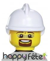 Masque de pompier Légo pour enfant