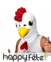Masque de poulet blanc, intégral