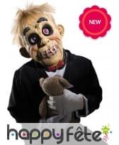 Masque de poupée à la bouche cousue, en latex