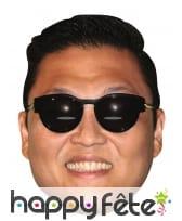 Masque de Psy en carton, Gangnam Style