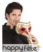 Masque docteur peste doré et rouge