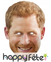 Masque du Prince Harry en carton plat
