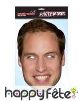 Masque du Prince William, en carton