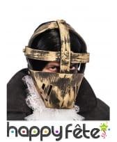 Masque du prisonnier effet acier adulte