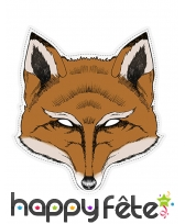 Masque de renard dessiné en papier
