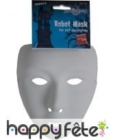 Masque de robot a peindre, image 2