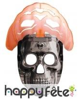 Masque de robot citrouille lumineux, image 2