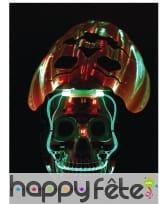 Masque de robot citrouille lumineux, image 3
