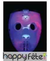 Masque de robot joueur de hockey lumineux, image 1