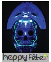 Masque de robot joueur de hockey lumineux, image 3