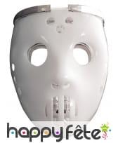 Masque de robot joueur de hockey lumineux