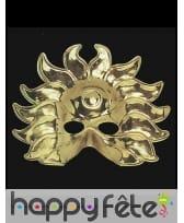 Masque de roi soleil doré pour adulte, image 1