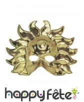Masque de roi soleil doré pour adulte