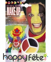 Maquillage de supporter Allemand ou Belge