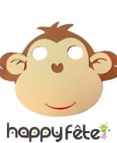 Masque de singe pour enfant, en mousse