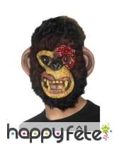 Masque de singe zombie