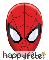 Masque de spiderman BD en carton plat