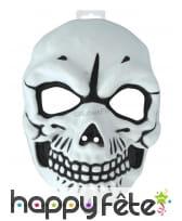Masque de squelette effrayant pour adulte
