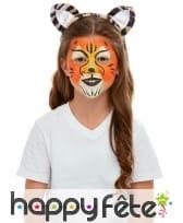 Maquillage de tigre queue et oreilles pour enfant, image 1