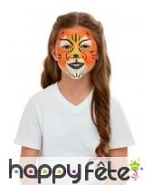 Maquillage de tigre queue et oreilles pour enfant, image 4