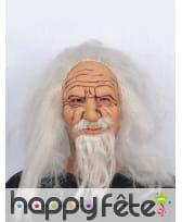 Masque de très vieux monsieur avec cheveux, image 2