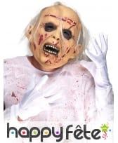 Masque de vieillard zombie recousu