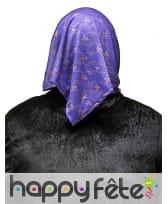 Masque de vieille dame avec foulard violet, image 1