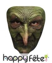 Masque de vilaine sorcière verte
