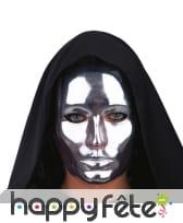 Masque de visage chromé, image 1