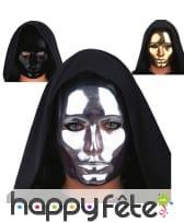 Masque de visage chromé