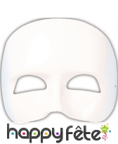 Masque demi visage à peindre