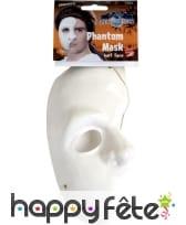 Masque demi-visage fantôme blanc, image 1