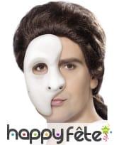 Masque demi-visage fantôme blanc