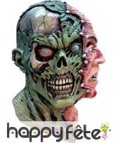 Masque double visage homme squelette, image 1