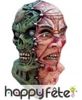 Masque double visage homme squelette