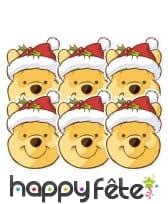 Masque de Winnie l'ourson père Noël, image 2