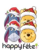 Masques de winnie et bouriquet de Noël