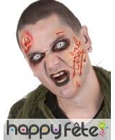 Maquillage de zombie et lentilles
