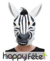 Masque de zèbre rayé intégral pour adulte