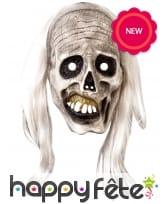 Masque de zombie avec cheveux pour adulte, image 1