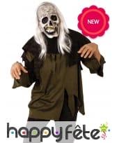 Masque de zombie avec cheveux pour adulte