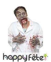 Masque de zombie avec gants en latex