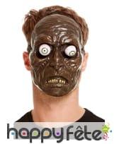 Masque de zombie avec yeux mobiles, adulte
