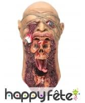 Masque de zombie visage arraché, image 2