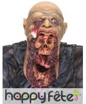 Masque de zombie visage arraché