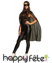 Masque et cape noir de super héros pour adulte, image 2