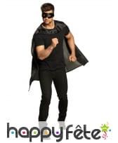 Masque et cape noir de super héros pour adulte, image 3