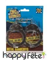 Menottes en métal avec clés, image 1